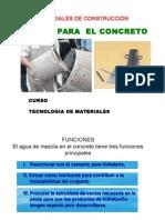 Agua Para Concreto Tec Materiales
