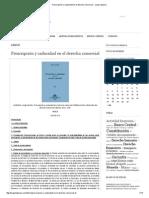 Prescripción y Caducidad en El Derecho Comercial - Jorge Labanca