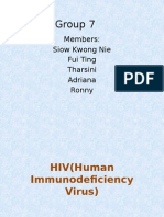 HIV(Human Immunodeficiency Virus)