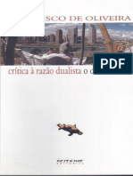 Crítica à Razão Dualista - O Ornitorrinco - Francisco de Oliveira
