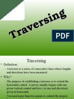 Traversing surveying