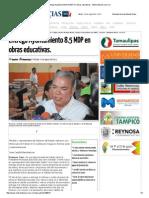 08-24-2015 Entrega Ayuntamiento 8.5 MDP en Obras Educativas