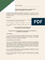 Port Nr 011-SEF, De 17 Out 1995 - Arquivamento e Destruicao de Documentos Contabeis - REVOGADA