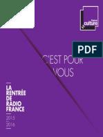 Rentrée 2015 France Culture