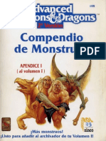 AD&D 2.0 - Compendio de Monstruos Vol I