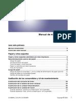 Manual de Mantenimiento impresora RICOH
