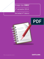 Ensayo tipo SIMCe%2c II semestre 2014%2c Sociedad 4° básico