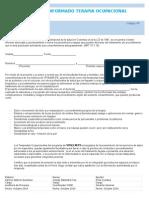 Consentimiento Informado Terapia Ocupacional Hospitalizacion