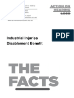 Industrial Injuries Disablement Benefit October 2012