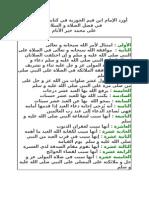 أورد الإمام ابن قيم الجوزية في كتابه جلاء الأفهام في فضل الصلاة و السلام