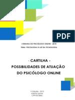 -CARTILHA- POSSIBILIDADES DE ATUAÇÃO  DO PSICÓLOGO ONLINE