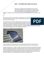 Paneles solares usados - reciclada que todav?a un gran trabajo