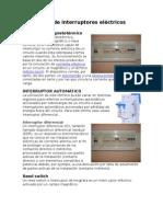 Tipos de Interruptores e Instalaciones Electricas