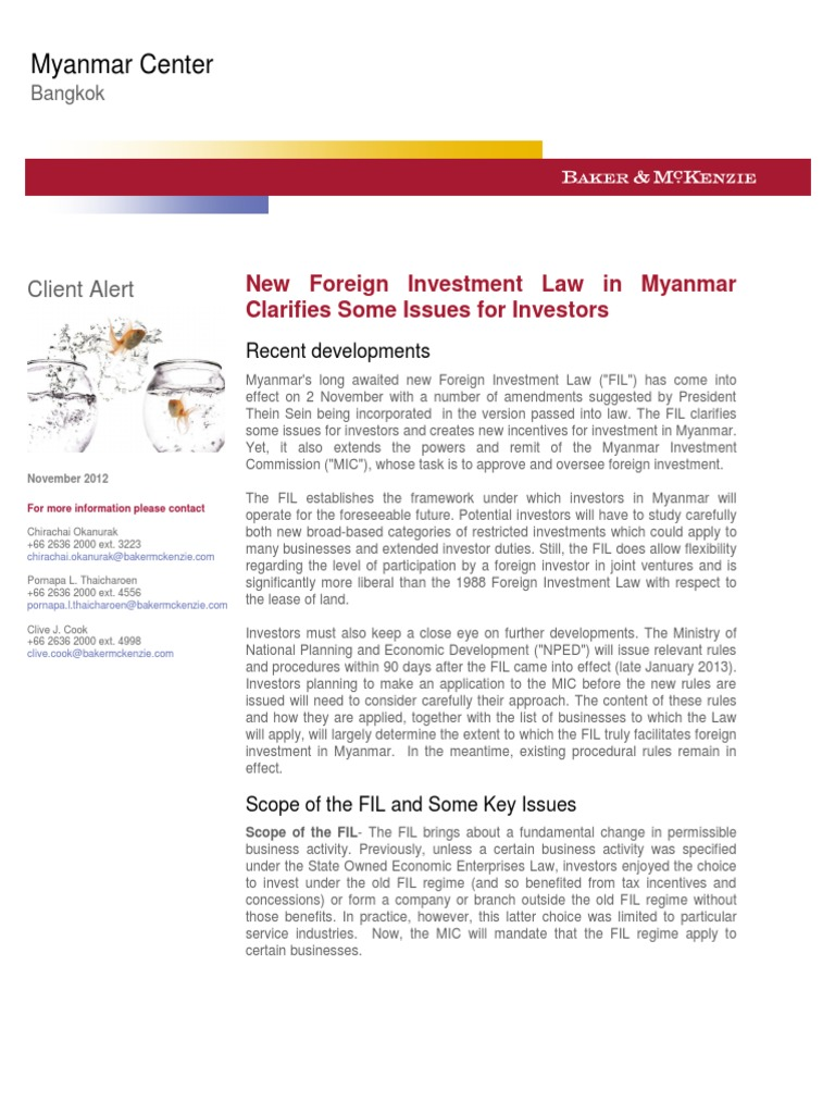 Myanmar foreign investment law full text horatio investments for beginners