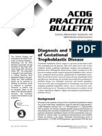 ACOG Practice Bulletin 53 Diagnosis and Treatment of Trofoblastic Gestacional Disease