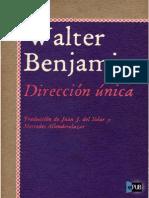 Direccion Unica Walter Benjamin