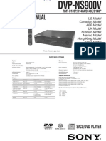 Sony Dvp Ns900v