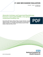 Alexander technique and Supervised Physiotherapy Exercises in back paiN (ASPEN)
