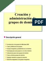 7.- Creacion y Administracion de Grupos Del Dominio