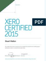 Xero Certified Advisor Completion Certificate - Conspicuous CBM Ltd