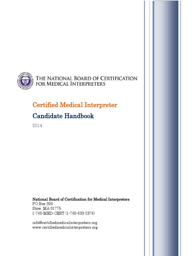National Board Candidate Handbook Professional Certification