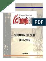 Situación Del SEIN. Ing. César Butrón. Coes-Sinac