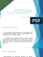 Manual Para Elaboração de Trabalhos Acadêmicos
