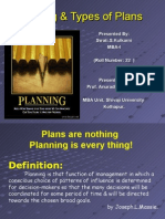 Types of Plans in Principles of Management