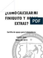 Calculo finiquito y horas extras