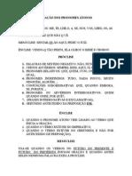 Lingua Portuguesa - Colocacao Dos Pronomes Atonos