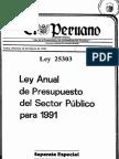 Ley 25303-1991