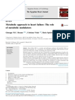 Metabolic Approach to Heart Failure -The Role Og Metabolic Modulators