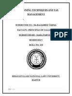 Taxation Project Sem V