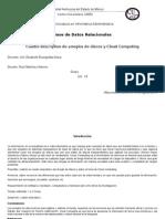 Cuadro Descriptivo de Arreglos de Discos y Cloud Computing