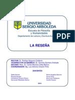La reseña - Universidad Sergio Arboleda