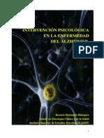Intervencion Psicologica en La Enfermedad de Alzheimer