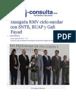 24-08-2015 E-consulta.com - Inaugura RMV Ciclo Escolar Con SNTE, BUAP y Gali Fayad