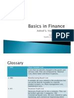 Basics in Finance