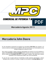 Catálogo Mercaderia John Deere Agosto 2015