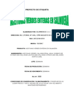 Etiqueta - Aceitunas Verdes