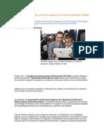 24-08-2015 Puebla Noticias - Puebla Seguirá en Los Primeros Lugares en Materia Educativa, Rafael Moreno Valle