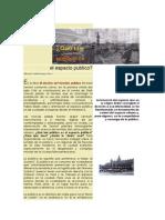 Saldarriaga, Alberto - Que Tan Publico Es El Espacio Publico