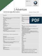 BMW R1200GS Adventure Datasheet