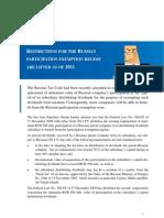 Tax Alert (Russian Participation Exemption Rule Changes) - EnG - Ed RV