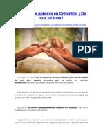 Amparo de Pobreza en Colombia, De Qué Se Trata