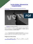 Elecciones de Octubre, Denuncie Las Irregularidades