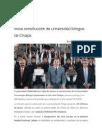 24-08-2015 Ángulo 7 - Inicia Construcción de Universidad Bilingüe de Chiapa