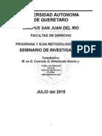 Programa y Metodologia Seminario de Investigacion 2015_2
