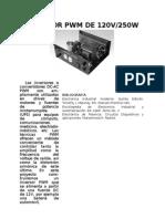 Inversor Pwm de 120v Organizado
