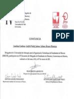 Certificado Encuentro de Delegados